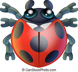 Cartoon lady bird or bug