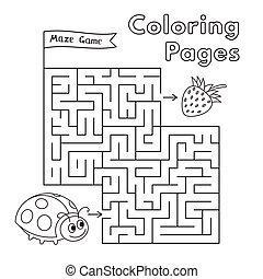 Cartoon Ladybug Maze Game