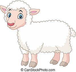Cartoon lamb - Vector illustration of Cartoon lamb
