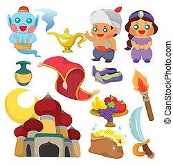 cartoon Lamp of Aladdin icon