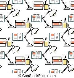 Cartoon lamps light bulb seamless pattern background design ...