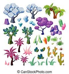 Cartoon Landscape Elements Collection