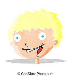cartoon laughing boy