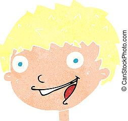 cartoon laughing boy