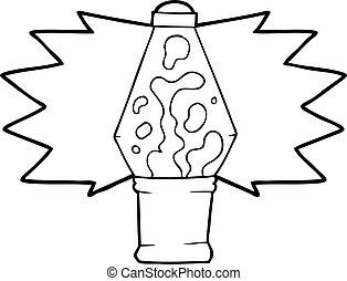 ... Cartoon Lava Lamp Cartoon Lava Lamp Vector Clipartby ...