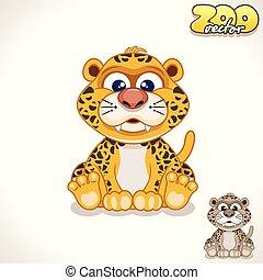 Cartoon Leopard. Vector Character
