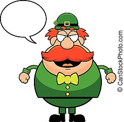 Cartoon Leprechaun Angry