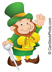 Cartoon Leprechaun Character