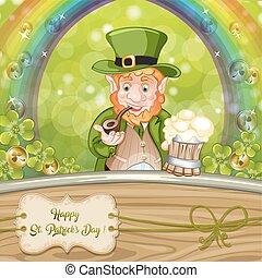 Cartoon Leprechaun . St. Patrick's Day.
