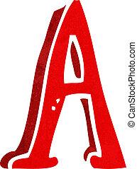 cartoon letter A
