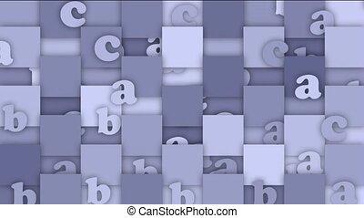 cartoon letter and alphabet card