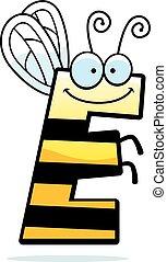 Cartoon Letter E Bug