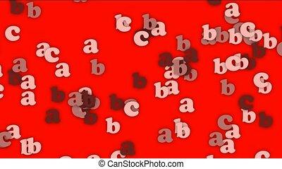 cartoon letter paper card matrix
