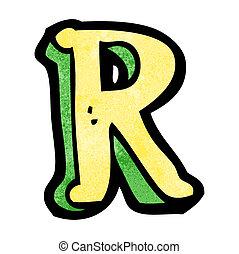 cartoon letter R