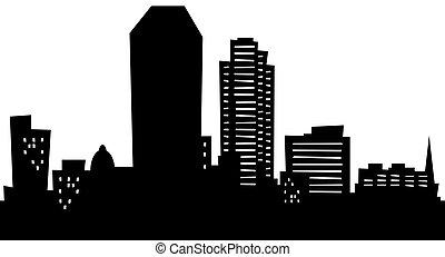 Cartoon Lexington - Cartoon skyline silhouette of the city...