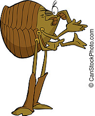 Cartoon lice - Lice on a white background vector...