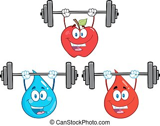 Cartoon Lifting Barbell Collection