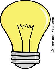 Cartoon Light Bulb Cartoon Character