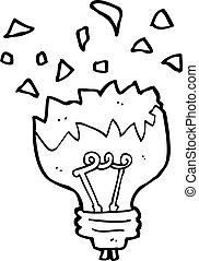 cartoon light bulb exploding