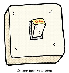 cartoon light switch - freehand drawn cartoon light switch