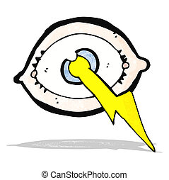 cartoon lightning strike eye