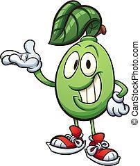 Cartoon lime character