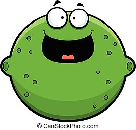 Cartoon Lime Happy