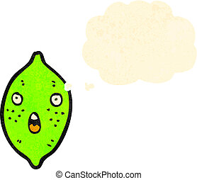 cartoon lime