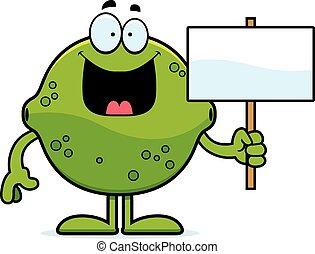 Cartoon Lime Sign
