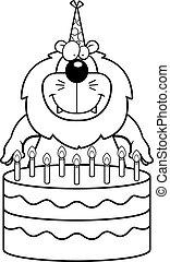 Cartoon Lion Birthday