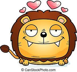 Cartoon Lion Cub Love