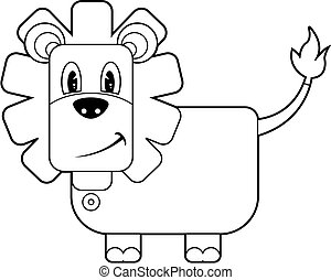 Cartoon Lion Line Drawing