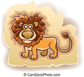cartoon lion on the background