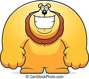Cartoon Lion Smiling