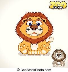 Cartoon Lion. Vector Character
