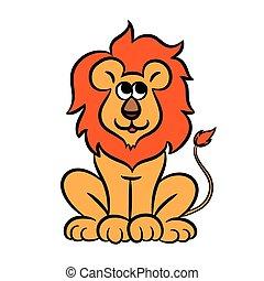 Cartoon lion. Vector illustration