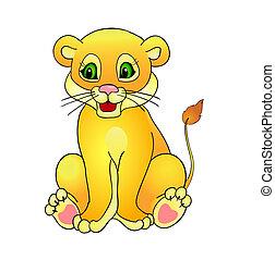 cartoon lion,