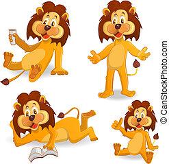Cartoon lions vector