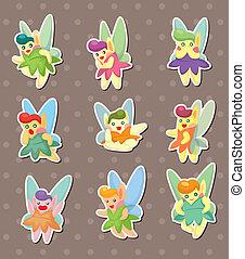 cartoon little baby fairy stickers