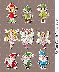 cartoon little baby fairy stickers