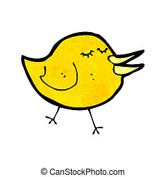 cartoon little bird