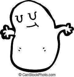 cartoon little blob monster