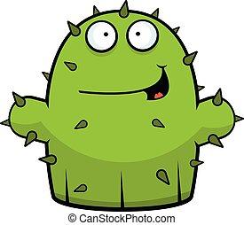Cartoon Little Cactus Happy