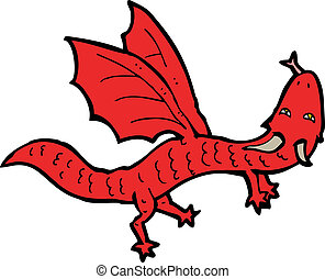 cartoon little dragon