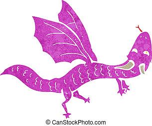cartoon little dragon