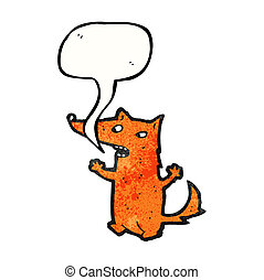 cartoon little fox talking