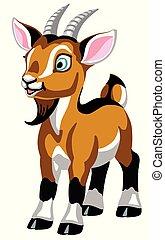 cartoon little goat