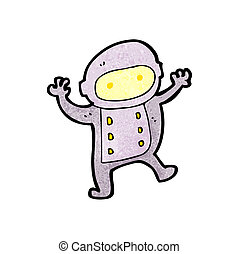 cartoon little spaceman