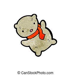 cartoon little teddy bear