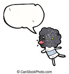 cartoon little thunderhead cloud creature